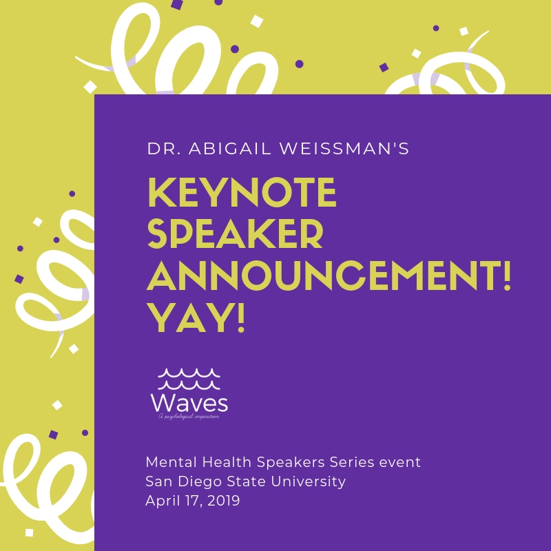 I'm so excited! - Whooohooo! Dr. Abi Weissman presents on transgender empowerment!