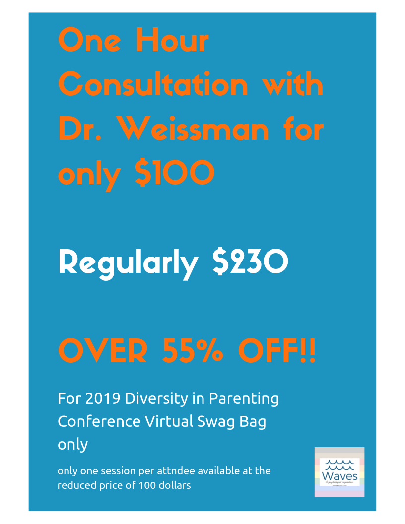 Amazing opportunity - for a super low fee for the most wonderful Diversity in Parenting conference's attendees only