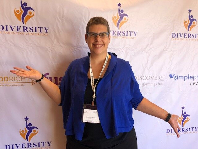 Dr. Abigail Weissman Keynotes - Opening Keynote Presentation on A Guide to Queer and Trans Parenting: Learn, Support, See, and Refer at the inaugural Diversity in Parenting Conference, on September 13th, 2019 in Anaheim, CA! It was an amazing experience!
