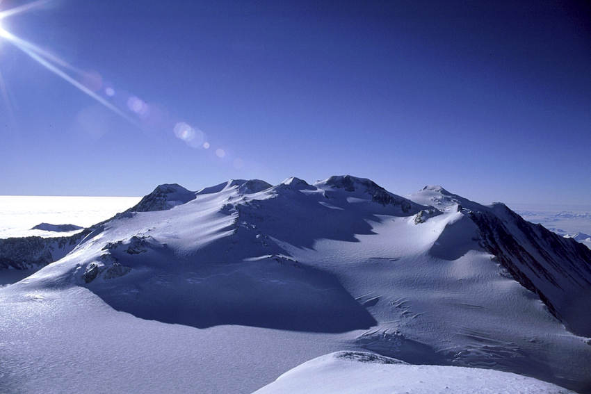 Vinson Massif from the North.  Photo  Credit: Damien Gildea