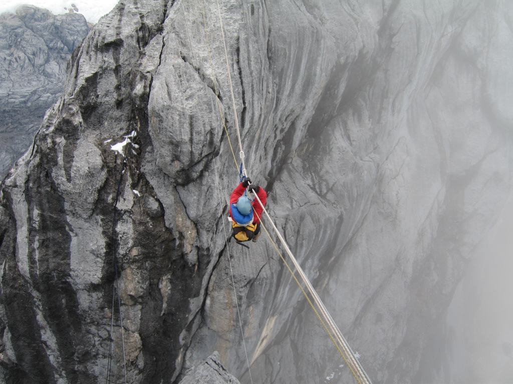 Scary stuff on the Carstensz Pyramid.  Photo  Credit: sutcliffe996