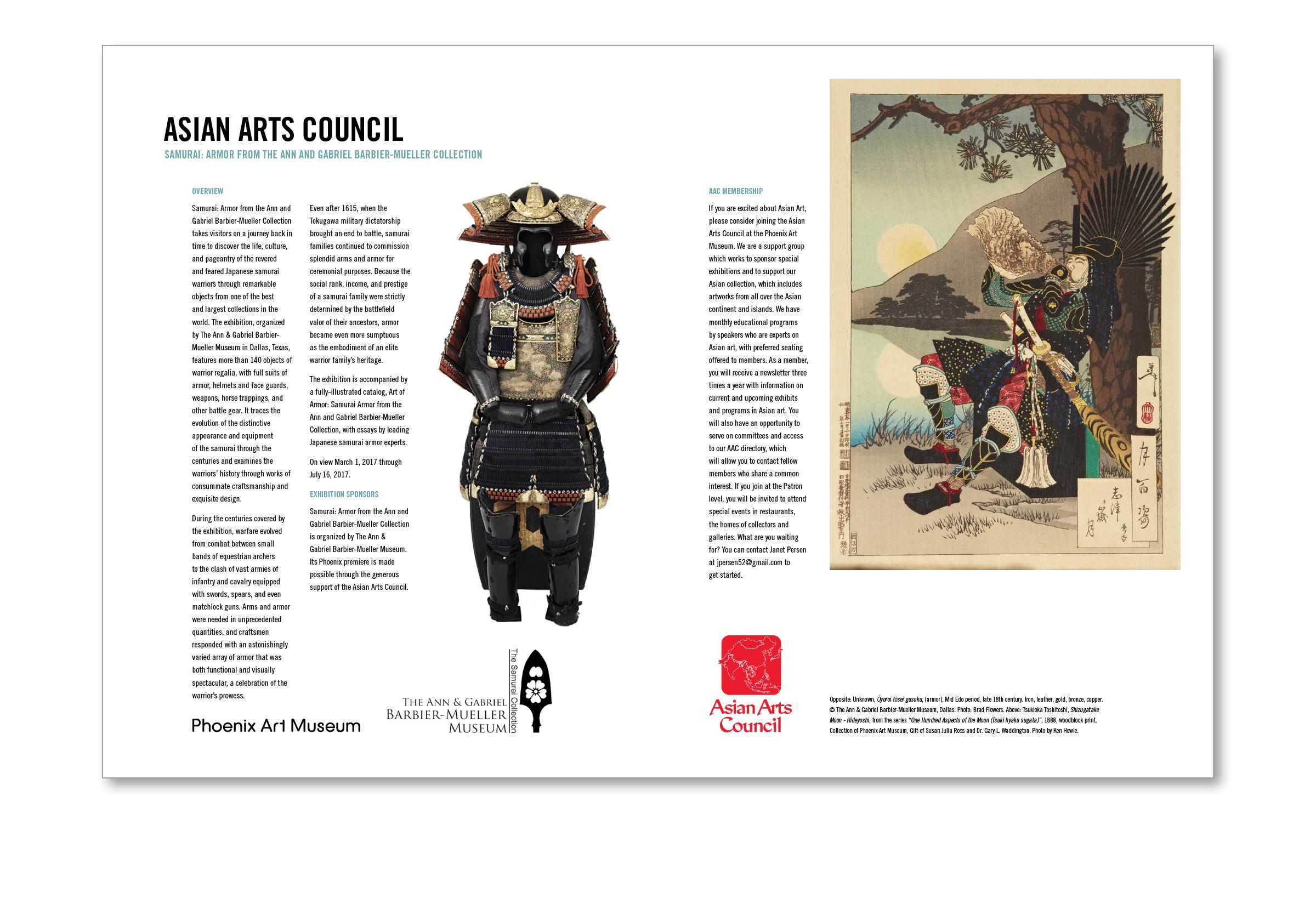 Art Museum Publication Spread