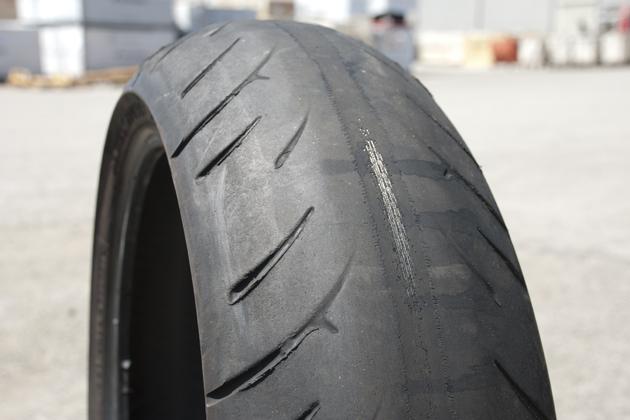 Badly Worn Tire -