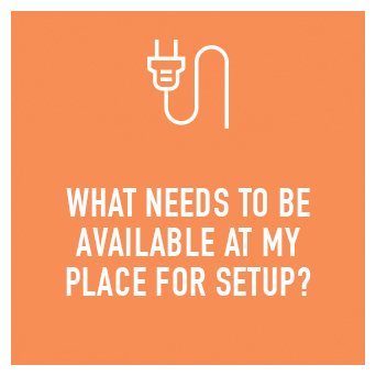 Preferably access to a 15 amp power point (if you do not have this don't worry we can bring a converter for a normal 10 amp socket).