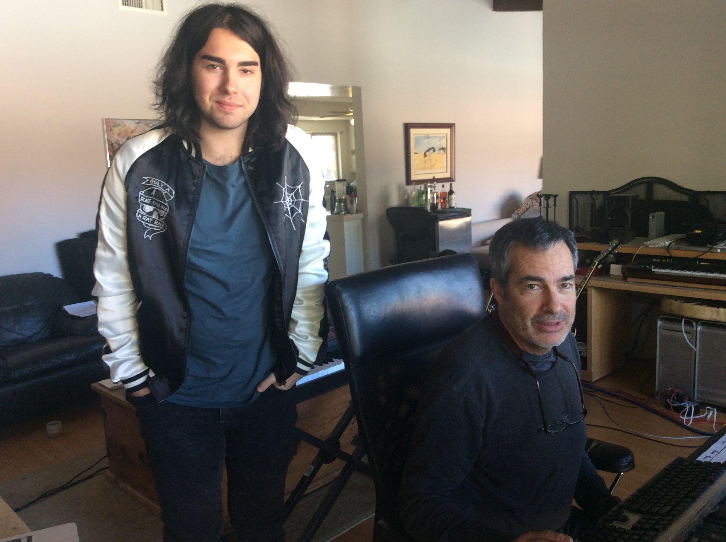 James Van Cooper & Producer Scott Campbell, LA Studio.