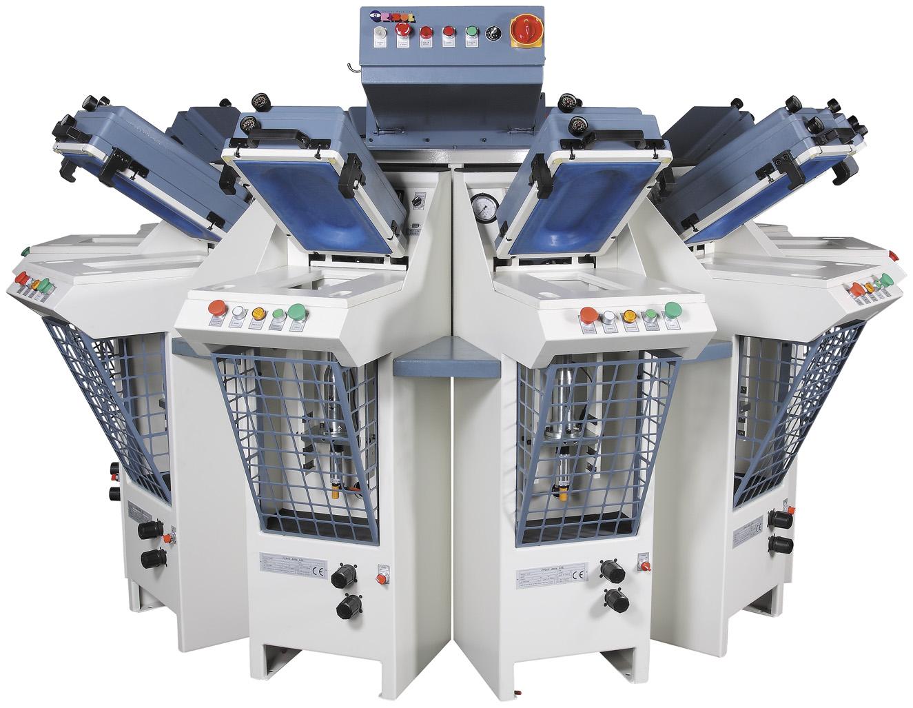 OSP-10E     Heavy duty pneumatic revolving sole press machine-10 stations