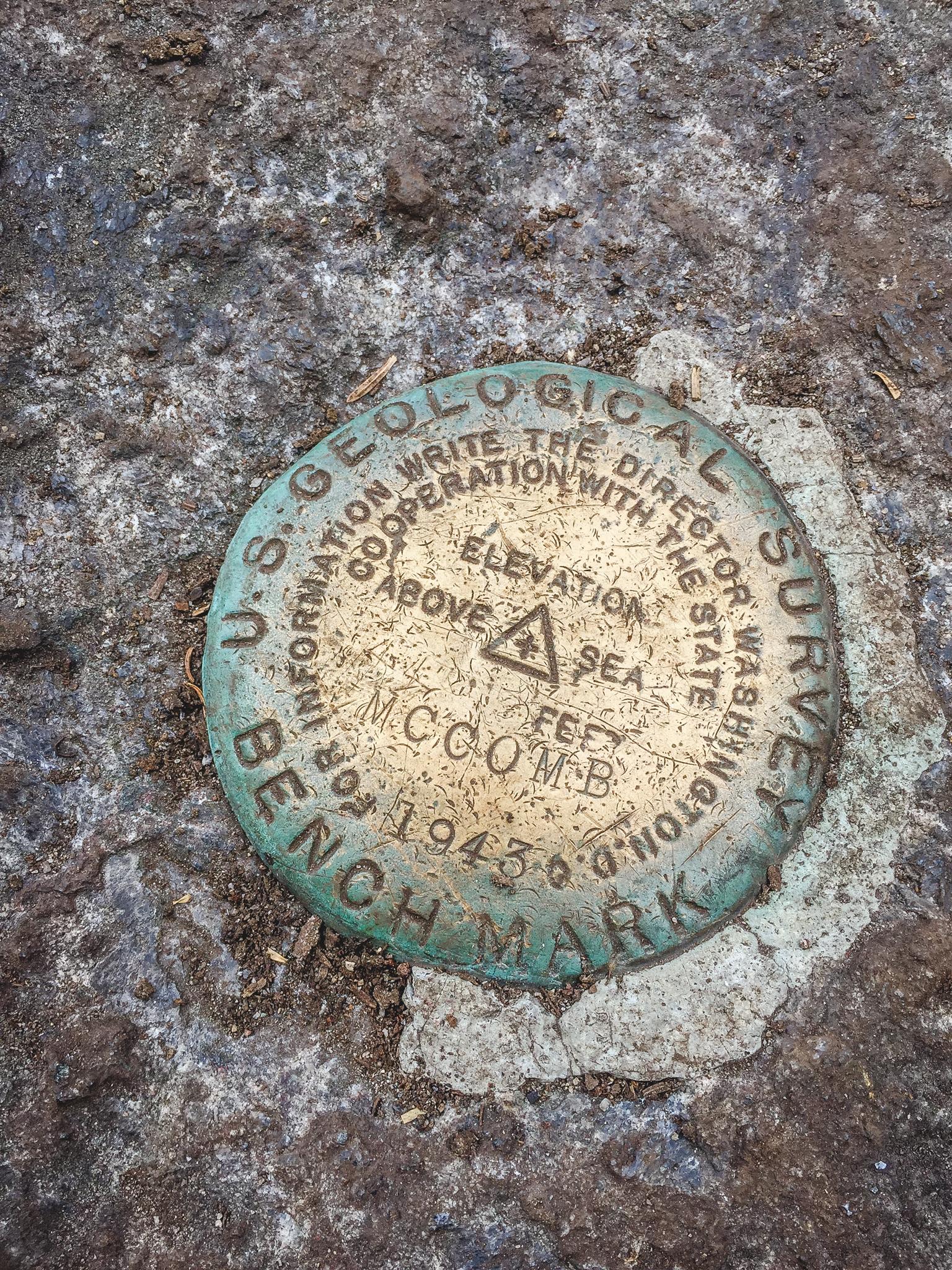 - Summit marker of Macomb
