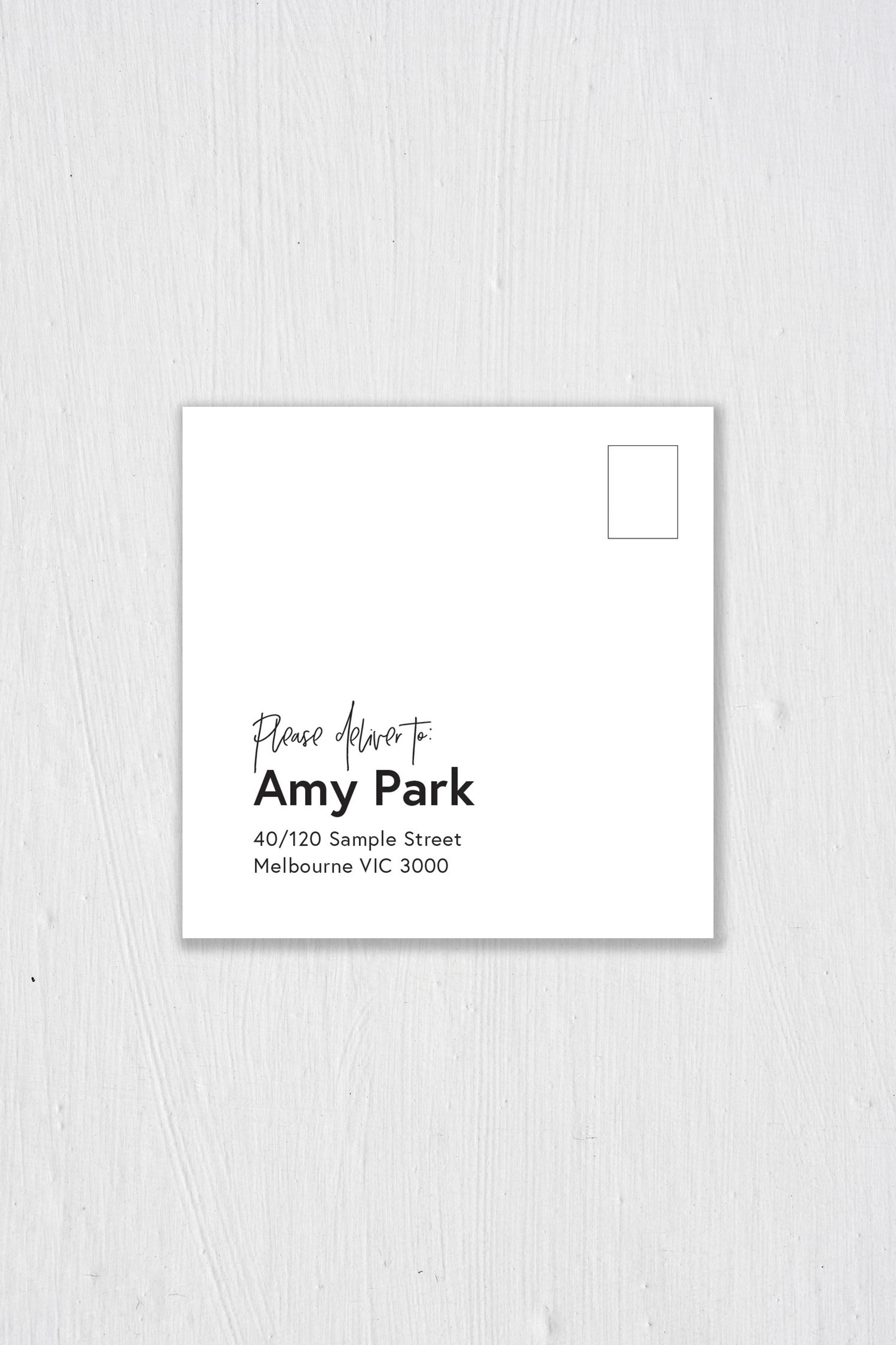 Envelope I - Front