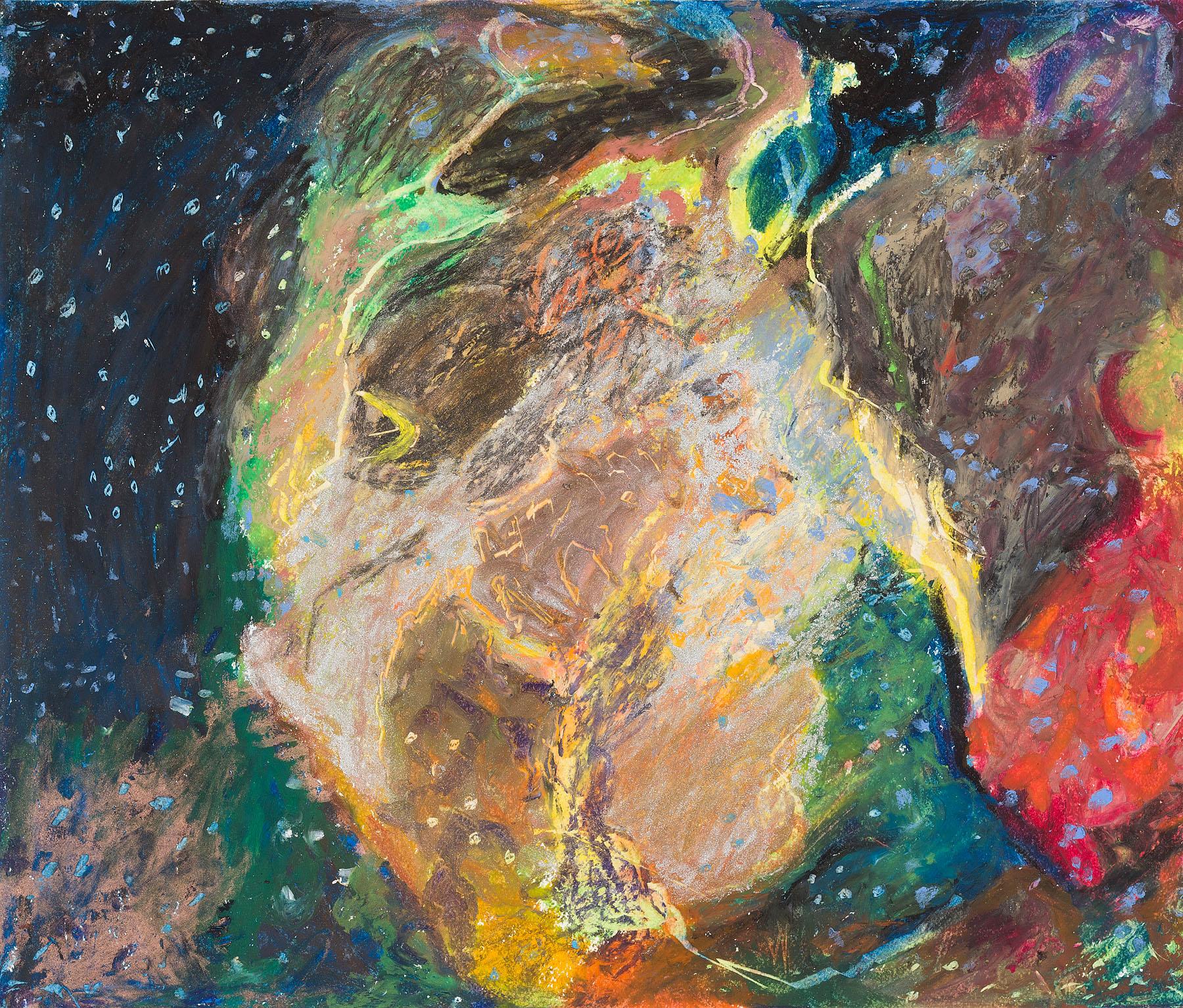 "Star Nurseries #01, oil pastel on paper, 13x16"""