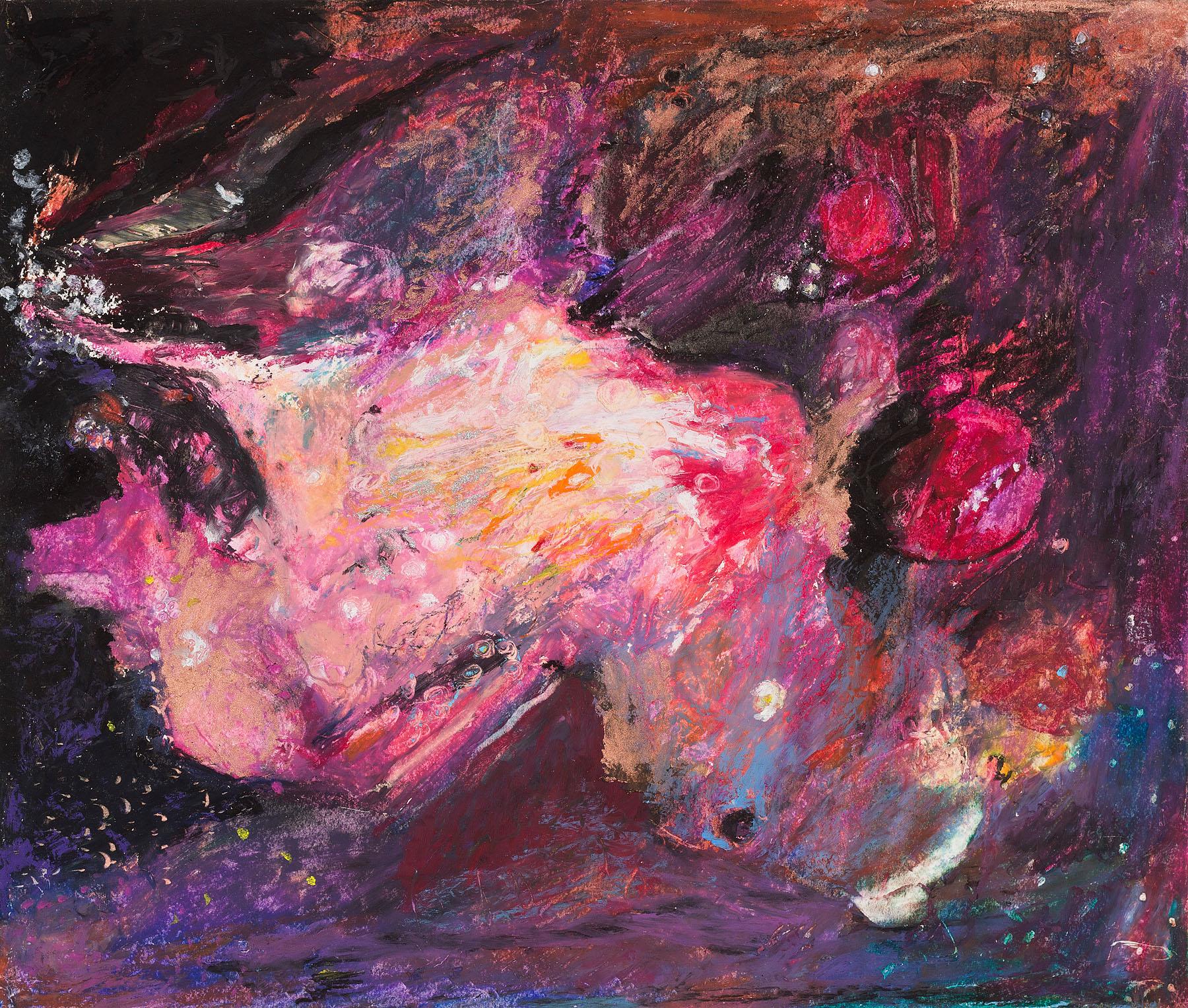 "Star Nurseries #03, oil pastel on paper, 13x16"""