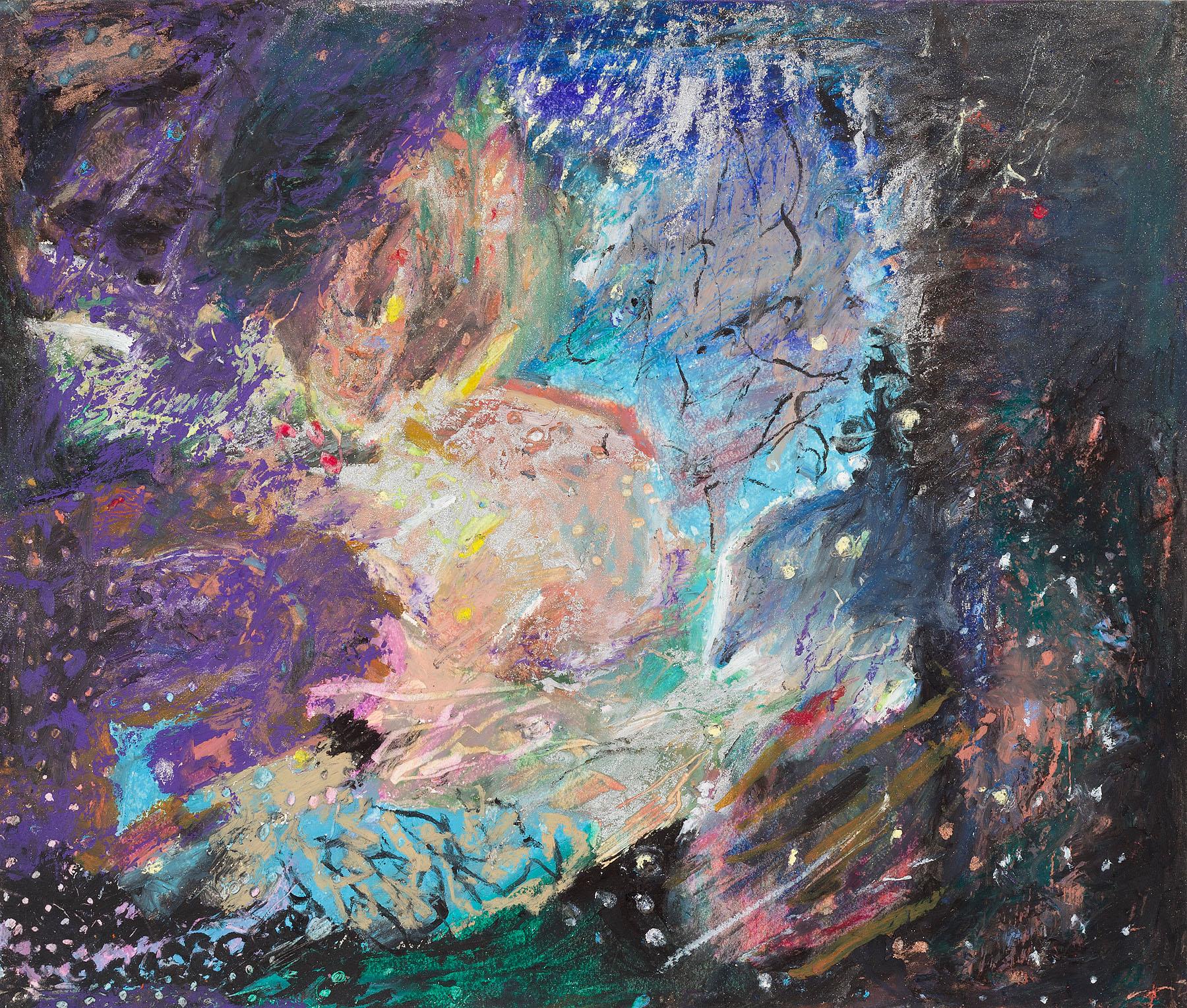 "Star Nurseries #02, oil pastel on paper, 13x16"""