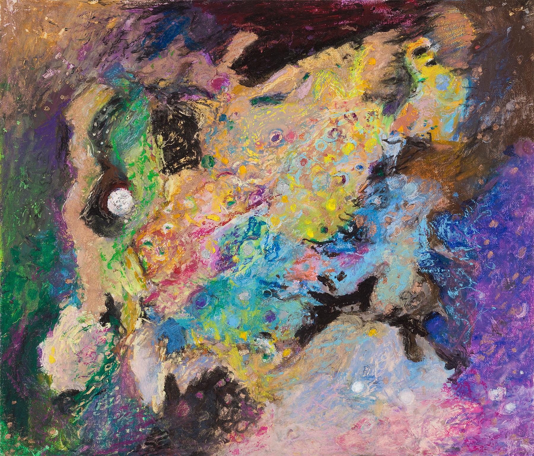 "Star Nurseries #06, oil pastel on paper, 13x16"""