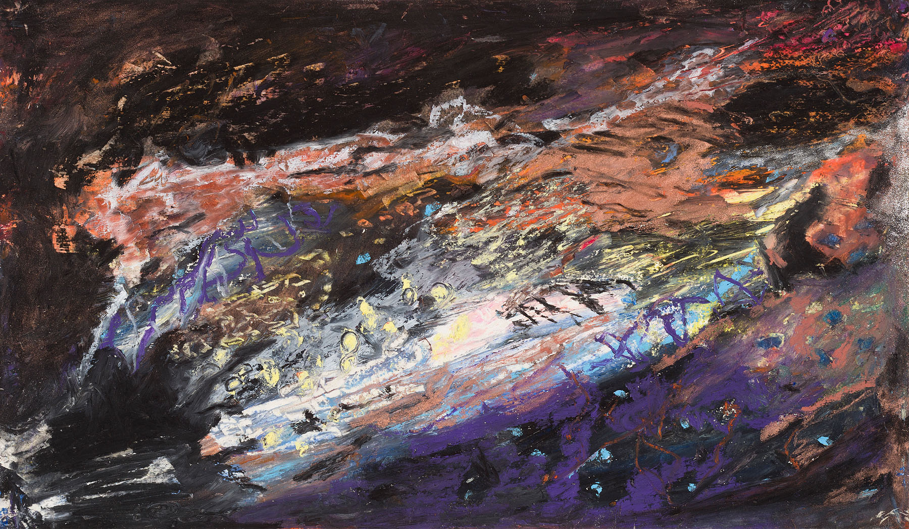 "Star Nurseries #05, oil pastel on paper, 10x16"""