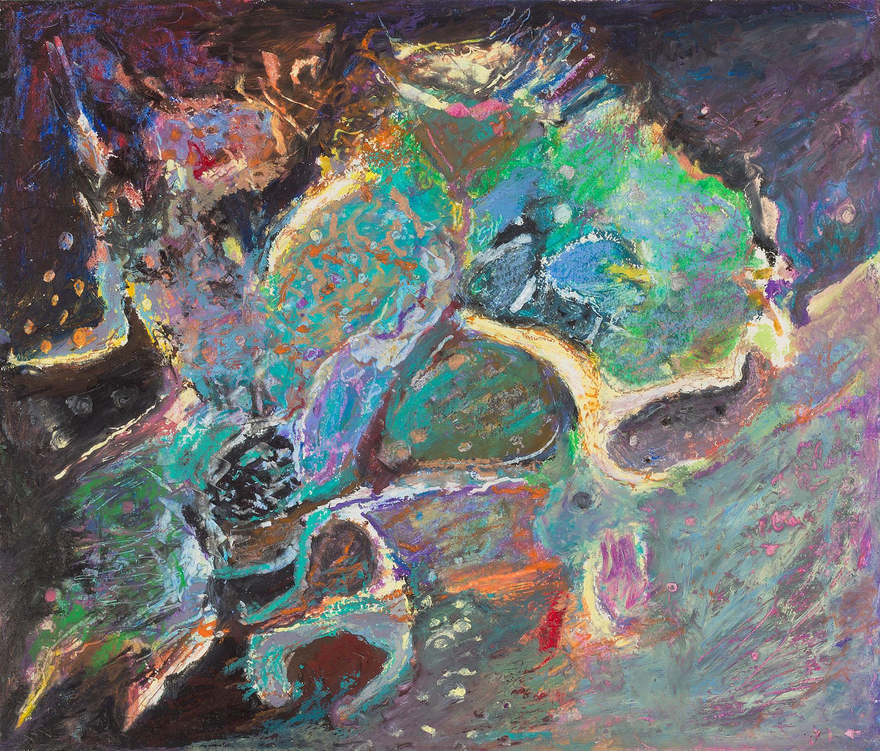 "Star Nurseries #07, oil pastel on paper, 13x16"""