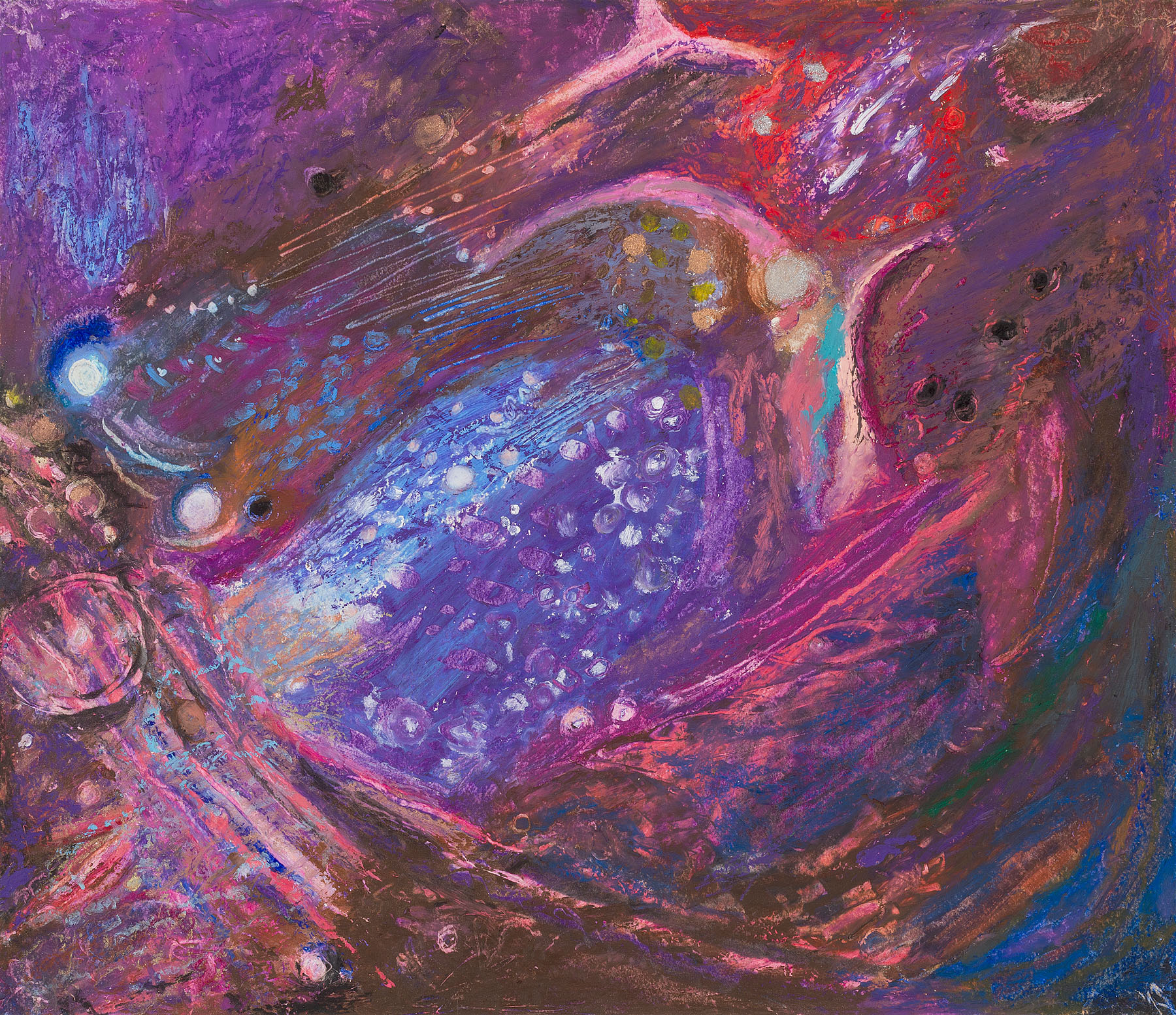 "Star Nurseries #08, oil pastel on paper, 13x16"""