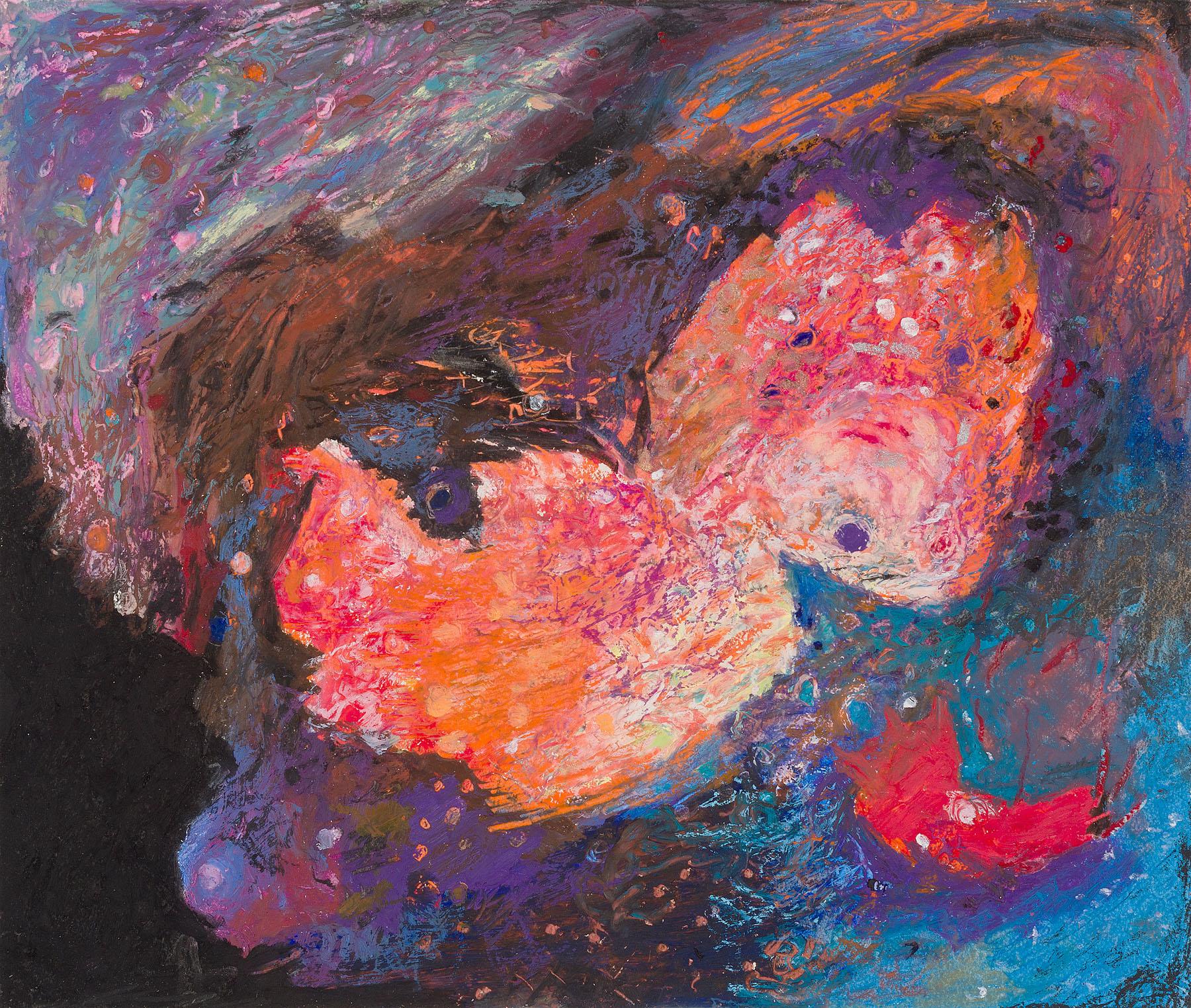 "Star Nurseries #09, oil pastel on paper, 13x16"""