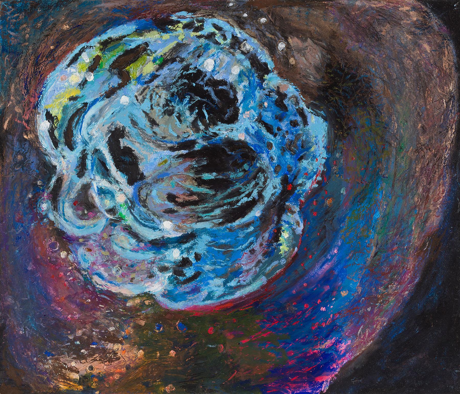 "Star Nurseries #10, oil pastel on paper, 13x16"""