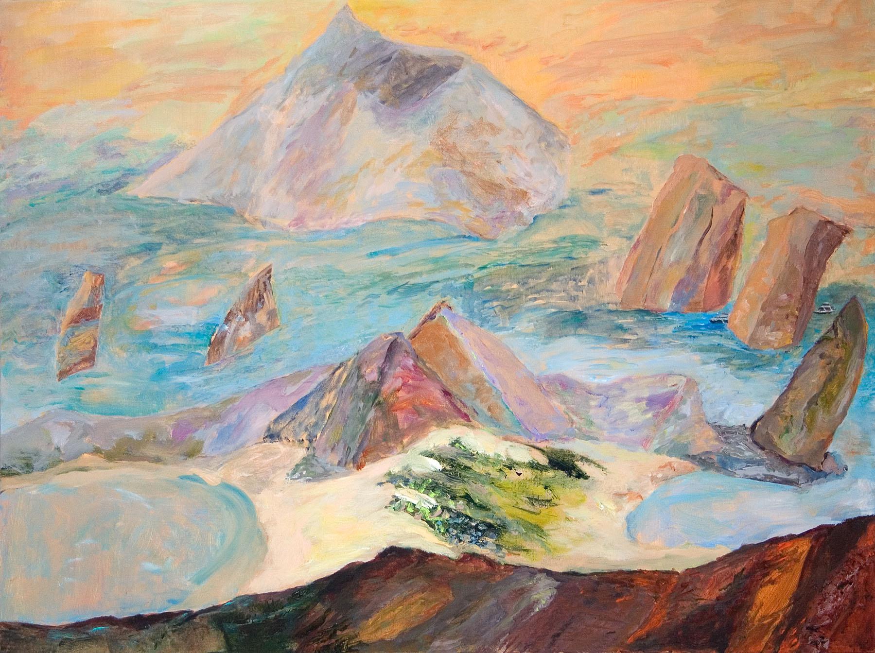 "Galapagos #02, acrylic on canvas, 30x40"""