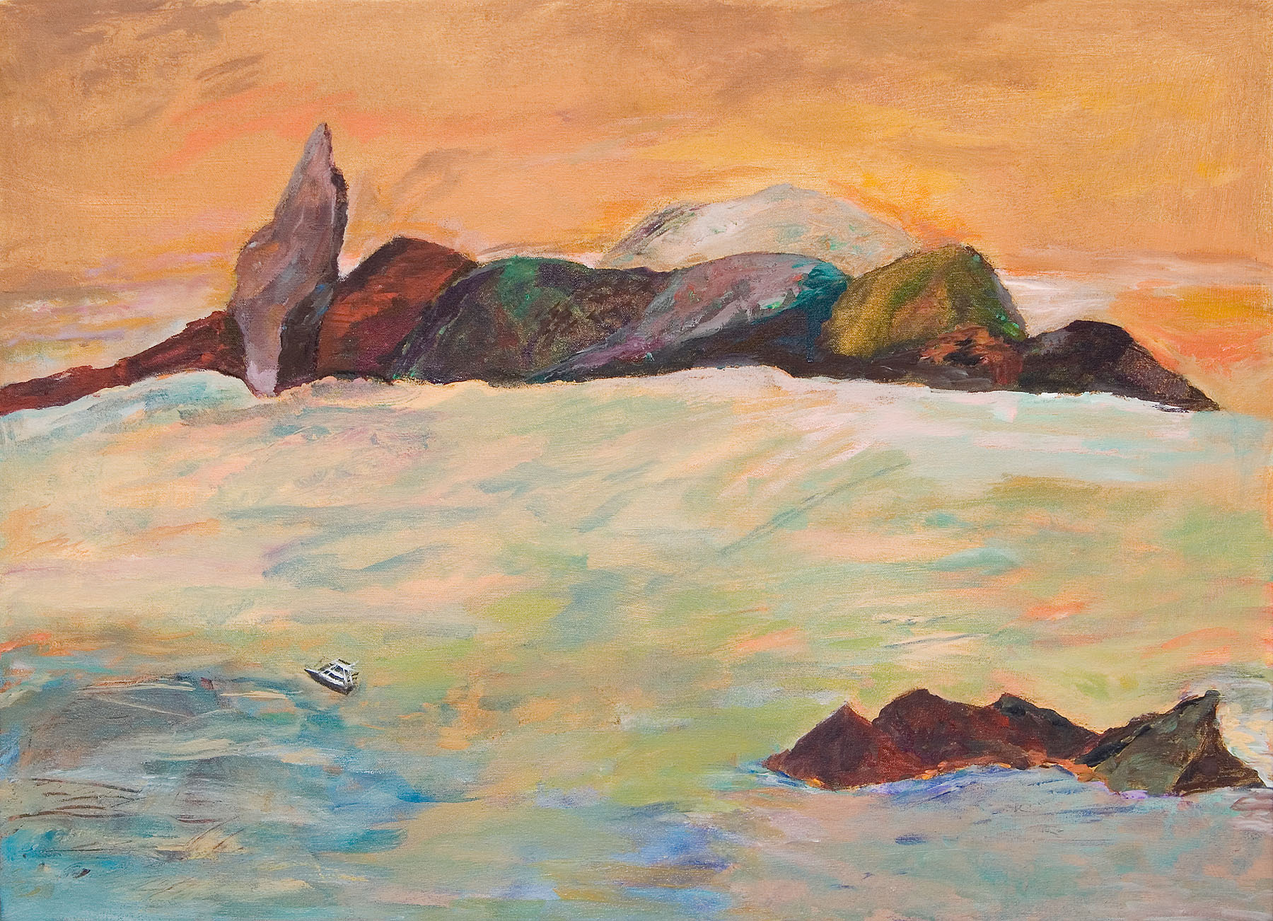 "Galapagos #04, acrylic on canvas, 22x30"""