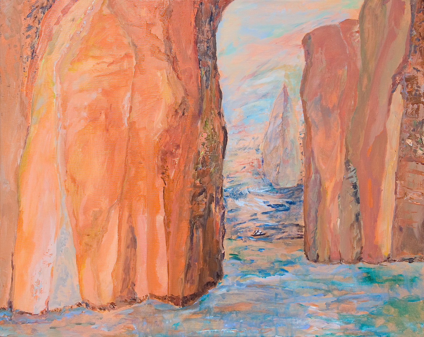 "Galapagos #05, acrylic on canvas, 24x30"""