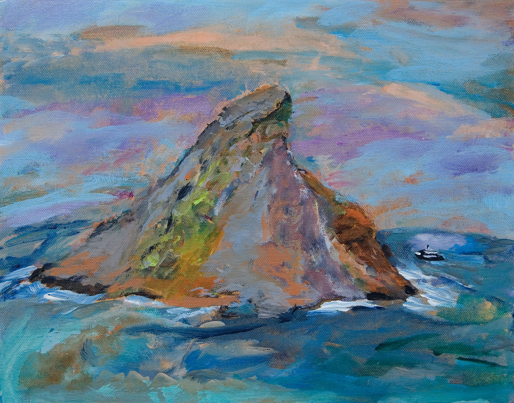"Galapagos #6, acrylic on canvas, 11x14"""