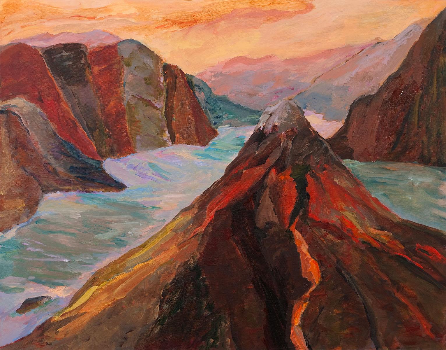 "Galapagos #12, acrylic on canvas, 30x40"""
