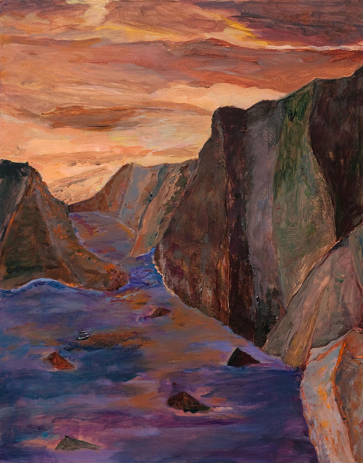 "Galapagos #11, acrylic on canvas, 30x24"""