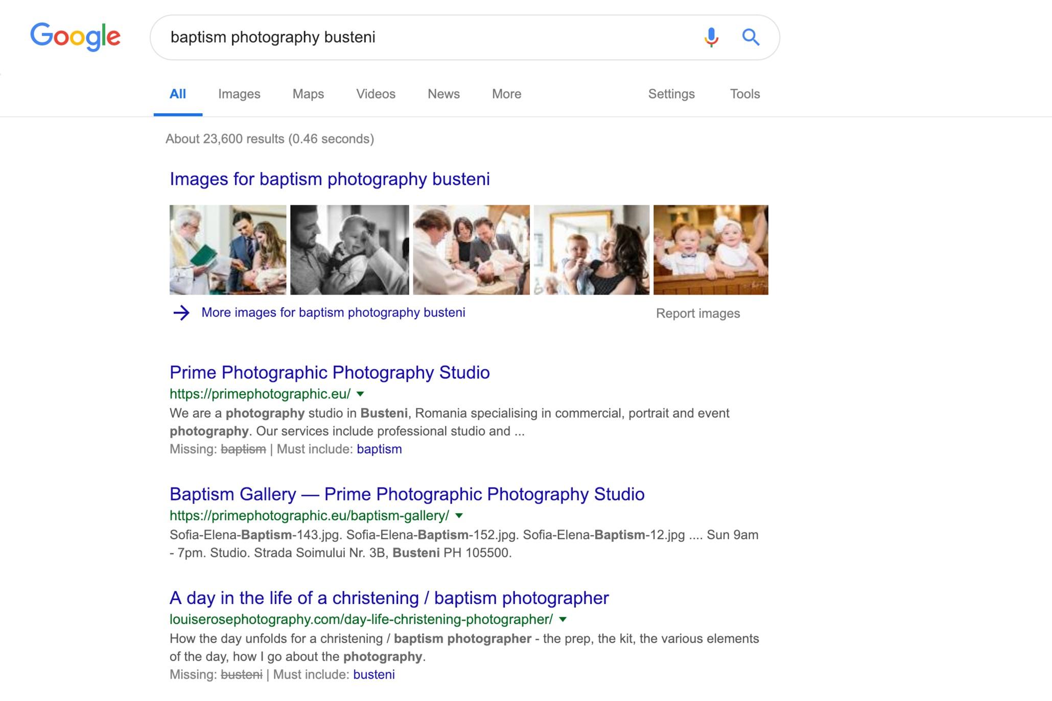 'baptism photography busteni'