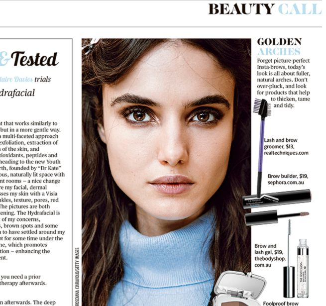 STM Feature - Youth Lab featured in Perth Now's Sunday Time's Magazine with the STM team trialing the Hydrafacial.