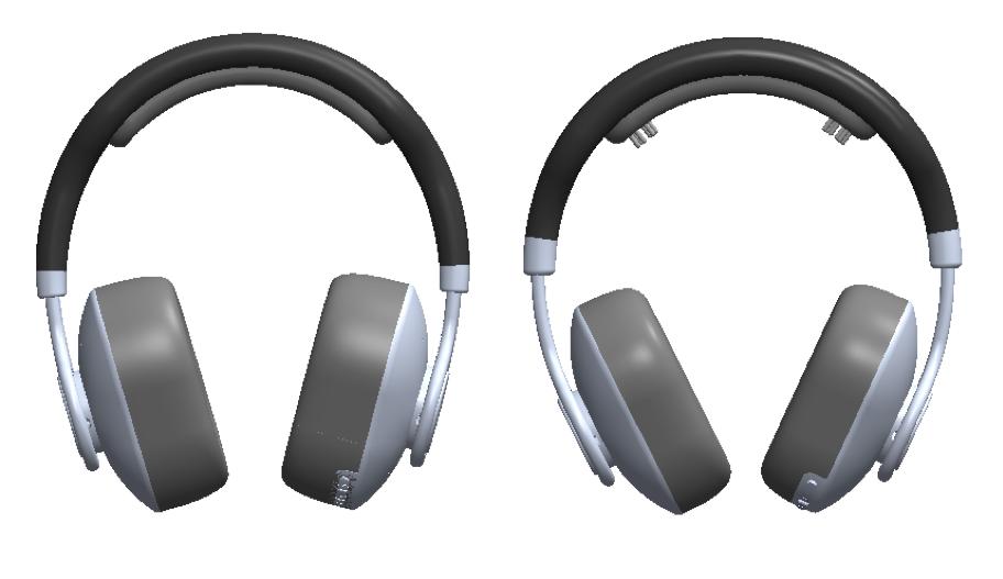 Left: EV2 design  Right: Final design