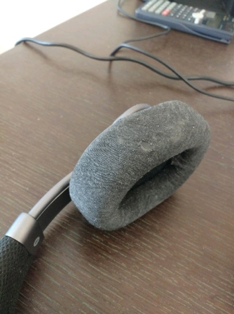 industrial design prototype - notice the fraying ear cups