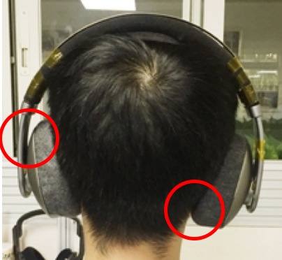 note how far the ear cups are bent
