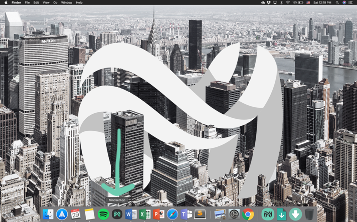 My computer desktop - seeing the Mindset app in the dock is pretty cool!
