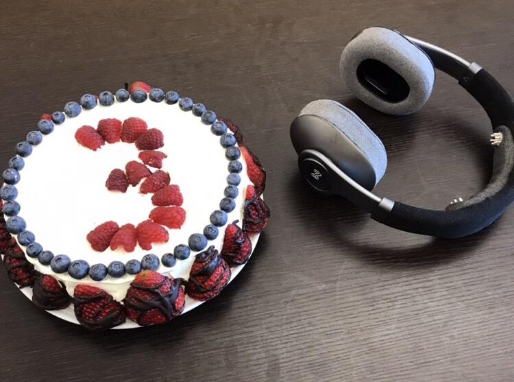 Mindset's  3-year anniversary cake!