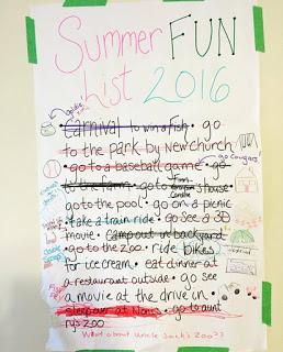 last year's summer fun list