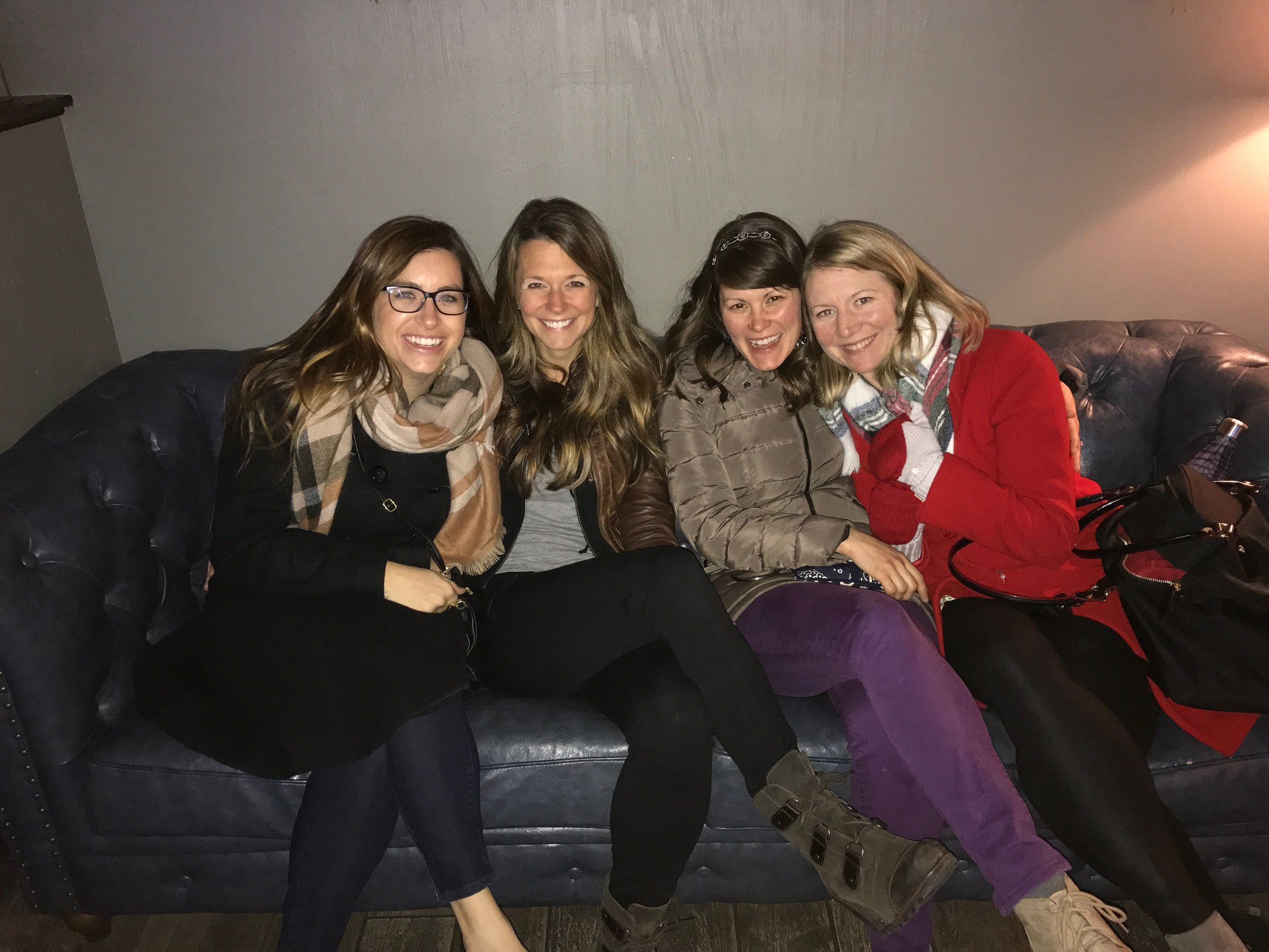 Kelly, Charity, me, and Lauren. They've been making me a better person for years.