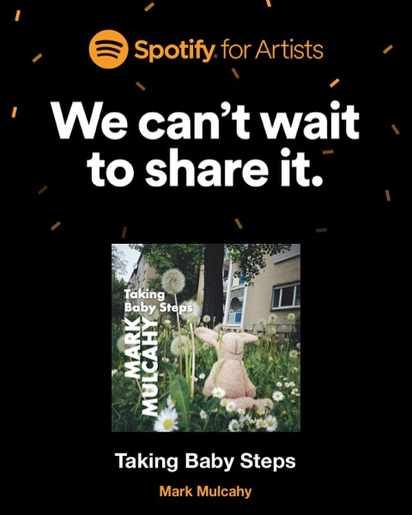 'Taking Baby Steps' single is our next week 👍 #markmulcahy #thegus #takingbabysteps #spotify #applemusic #itunes #amazonmusic #deezer #googleplay #eotr2019