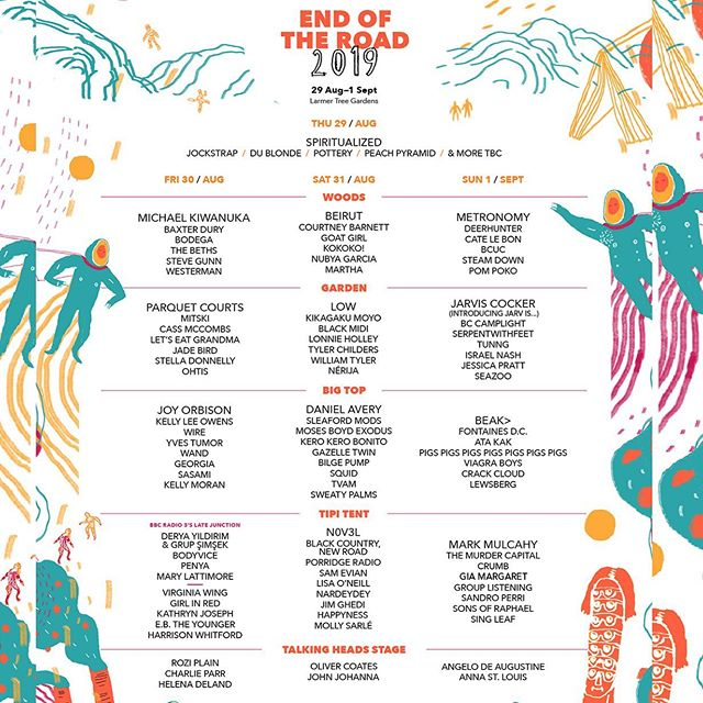 Very excited to be back in the UK on tour in August / September and to be part of this incredible @EndOfTheRoad Festival lineup! Tickets are on sale from endoftheroadfestival.com #EOTR2019 #markmulcahy #miraclelegion #thegus