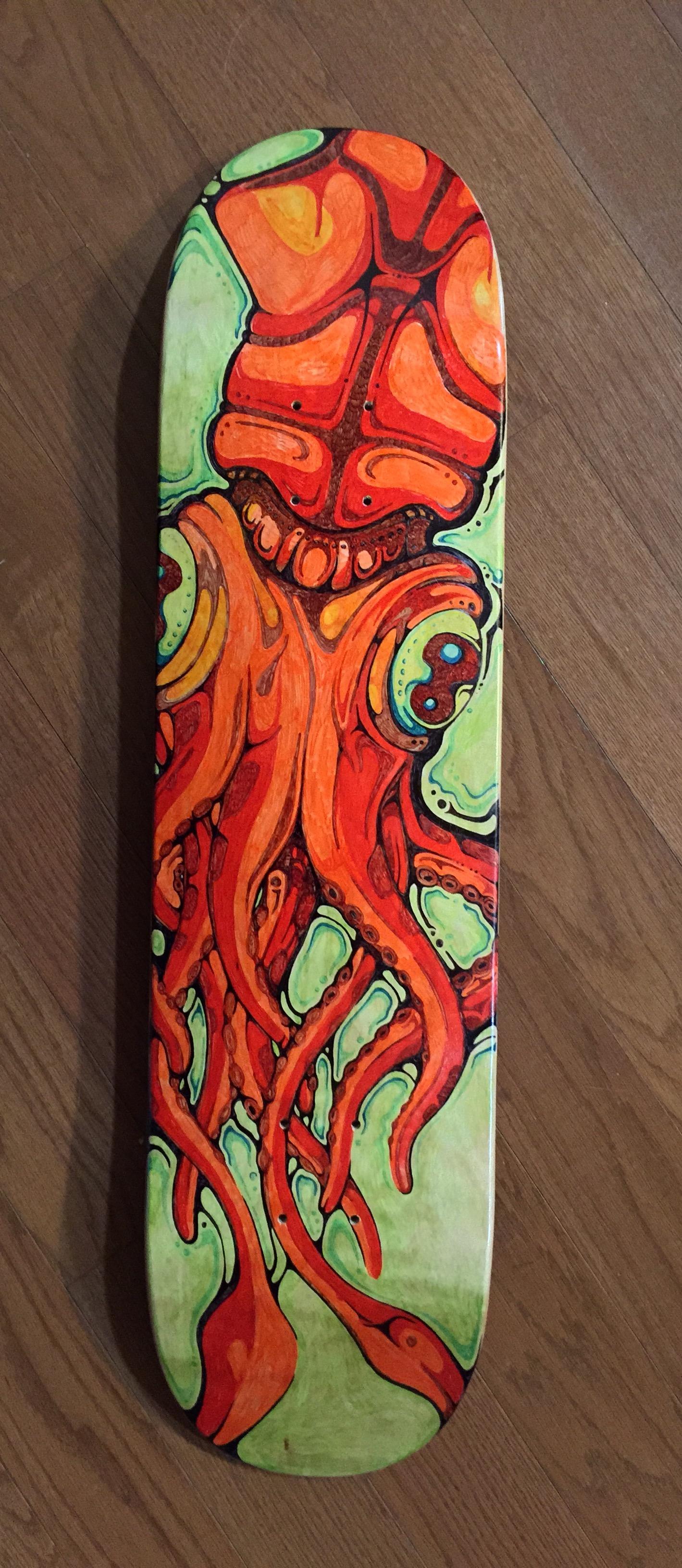 Skateboard - Prismacolor Markers