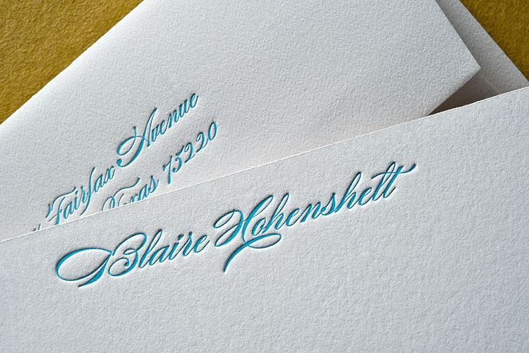 ONE-of-a-kind stationery