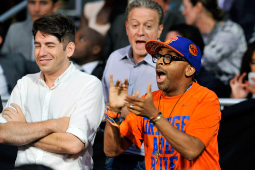 With Spike Lee at the NBA Draft
