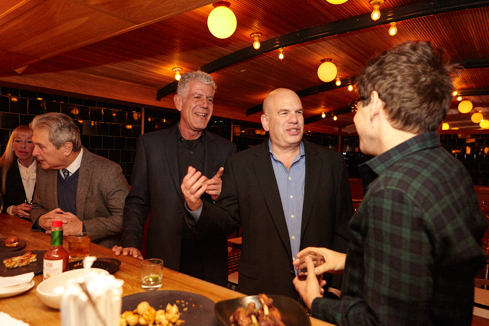 With Anthony Bourdain and David Simon