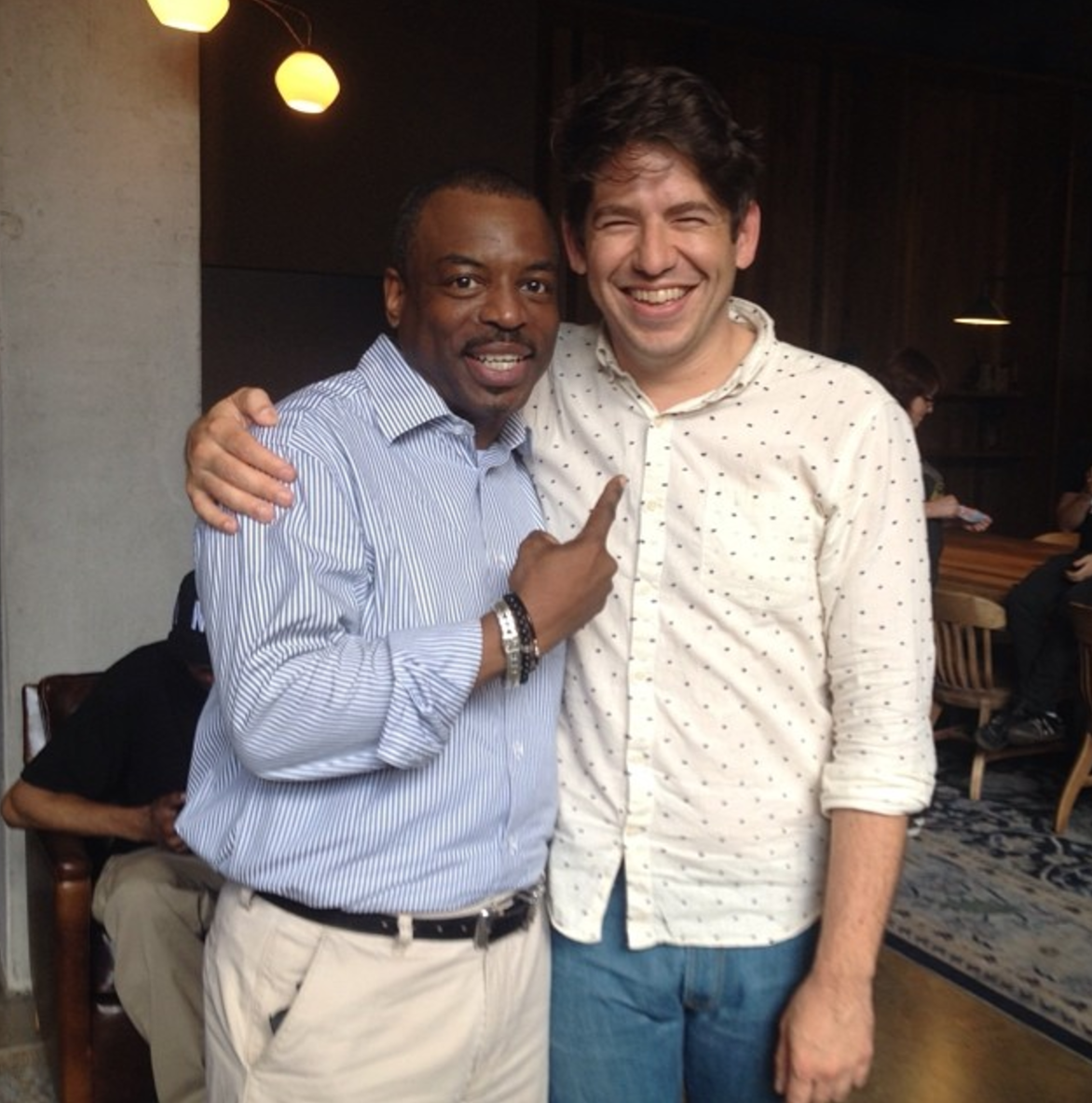 With LeVar Burton