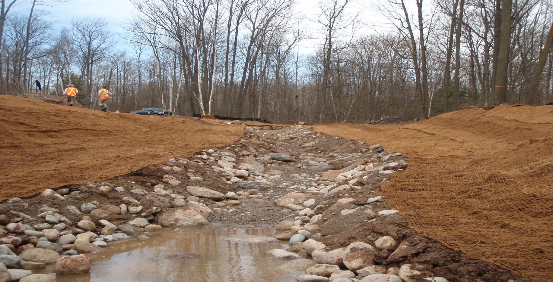 Example of the stream restoration process