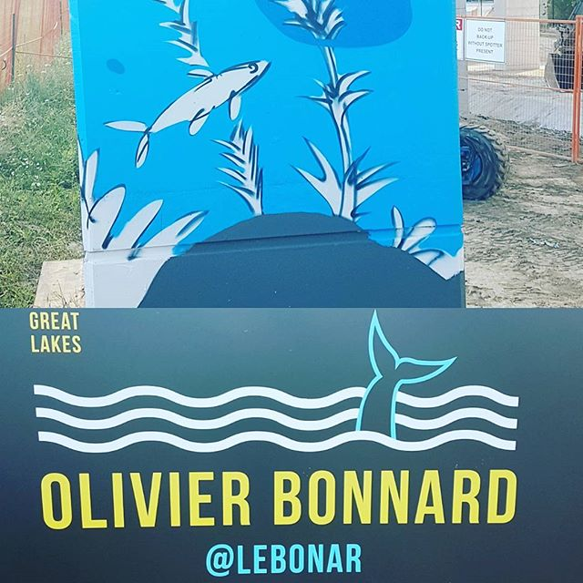 Can't wait to see the finished mural feature #redsidedace at the Bentway! Thanks to @thebentway and #loveletterstothegreatlakes for helping us spread the word about this vital indicator species  #swimdrinkfish