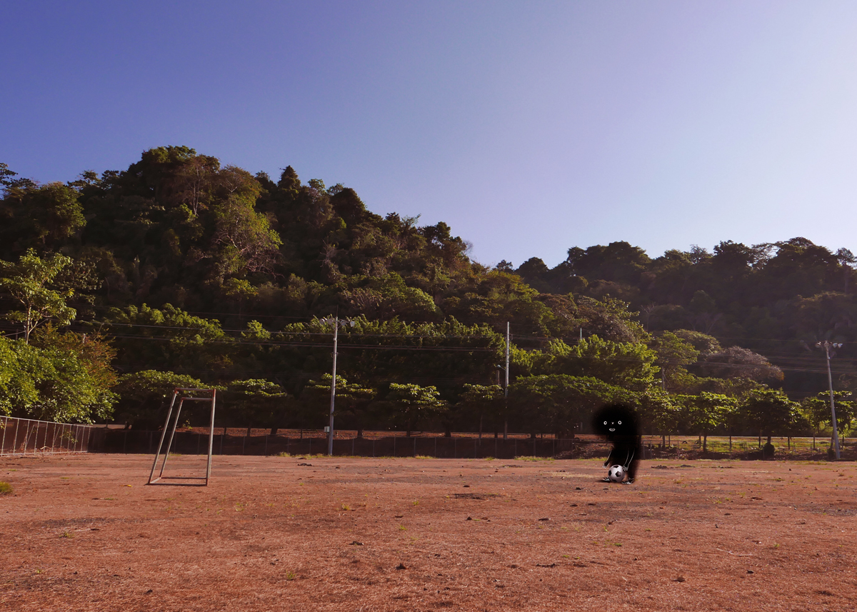 ⚽️ It's 3:34pm of March 3rd, 2017.  That's how a Costa Rican soccer field looked that day. In front of it are 24 houses, most of them have kids.  FreBo has improved his soccer abilities, particularly his shoots.  March 3rd, 2017, in many stores of the country Nintendo Switch is already available.