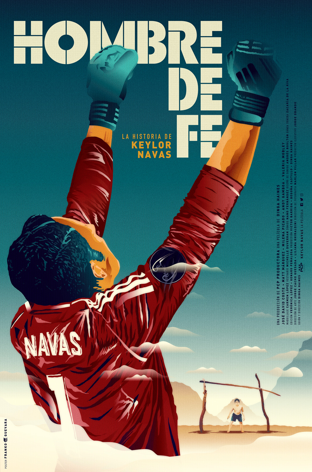 Official Keylor Navas Movie Poster : Man of Faith.