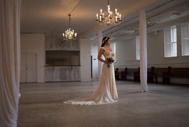 Bella Bridal Dress with Flowers