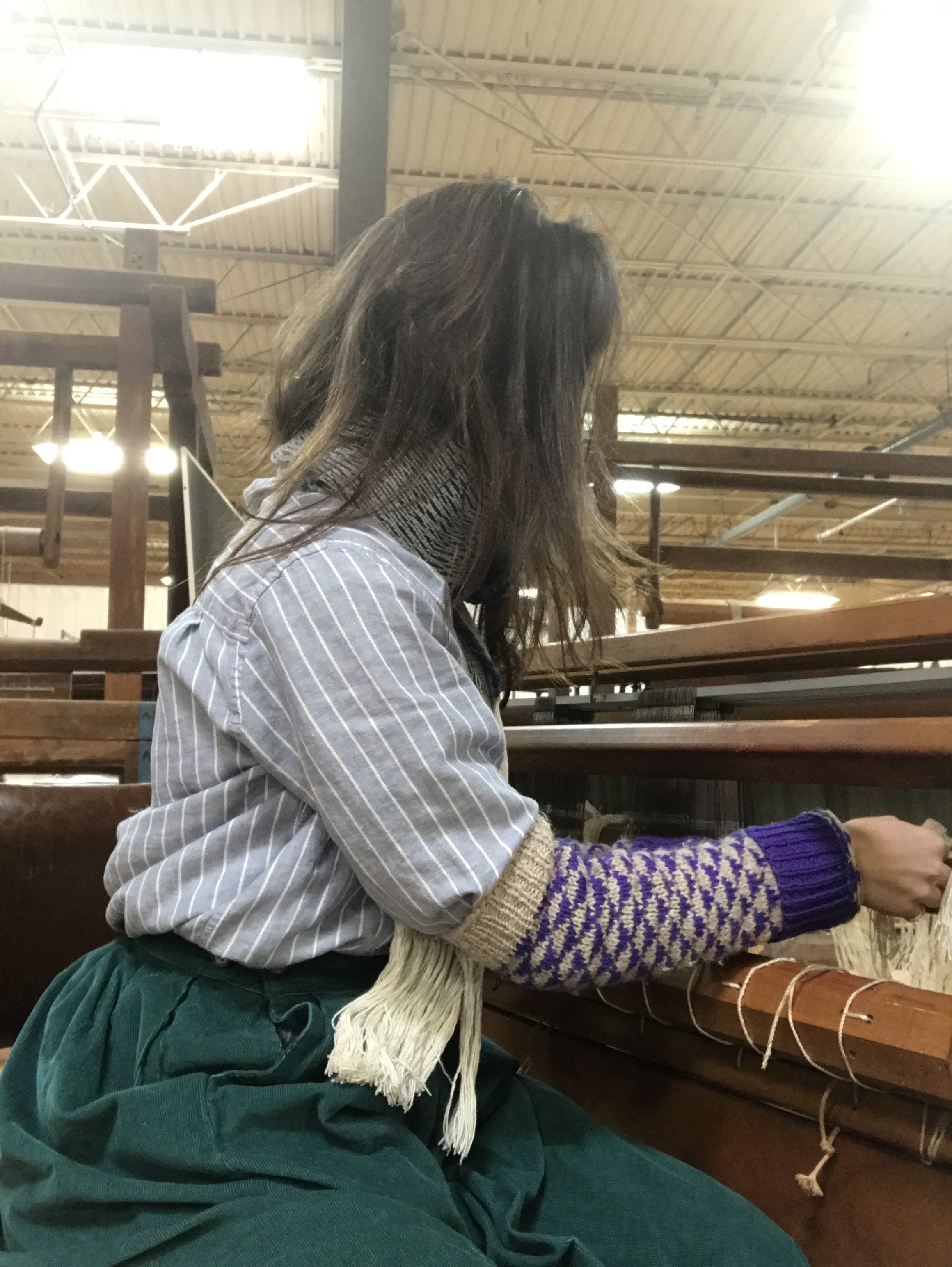 dressing the loom (and dressed from the 18th century)