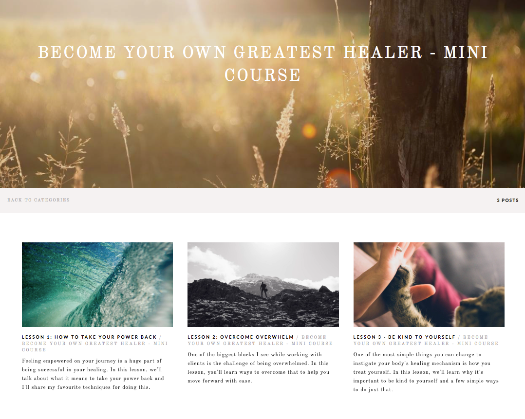 Become Your Own Greatest Healer - Mini Course Course Module